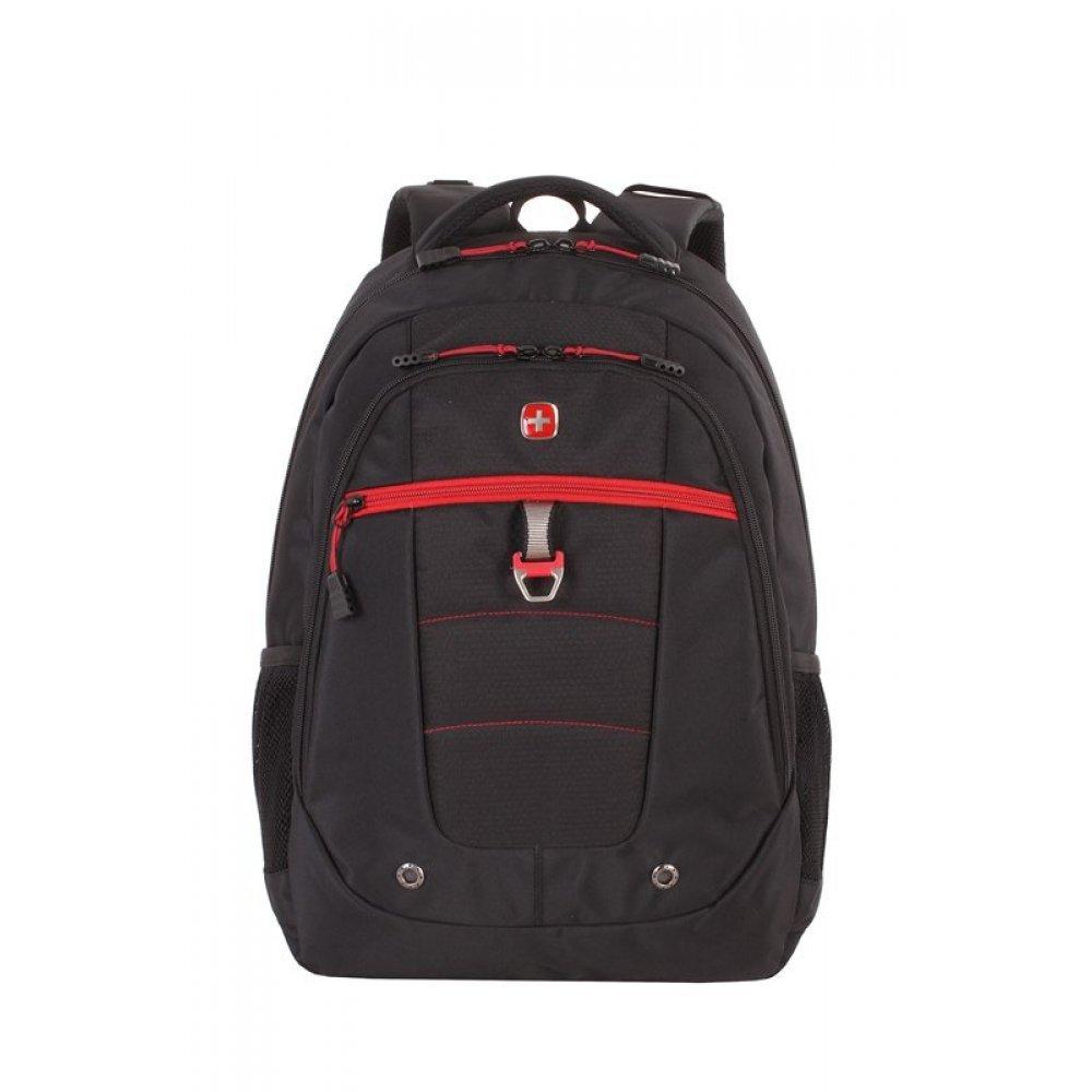 Рюкзак WENGER, 15, черный/красный, полиэстер, 900D,  34х18x47 см, 29 л 5918201419