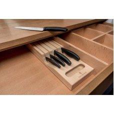 Набор из 5 кухонных ножей VICTORINOX, в подставке из бука, 43x6.5x14.5 см, 2.14 кг 6.7143.5