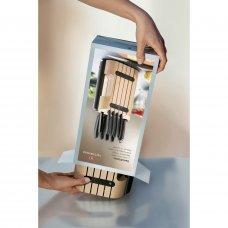 Набор из 11 кухонных ножей VICTORINOX, чёрная рукоять, в подставке из бука высотой 35.5 см. 6.7153.11