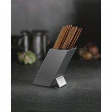 Набор из 5 кухонных ножей VICTORINOX, с рукоятью из орехового дерева, в подставке из бука 6.7185.6