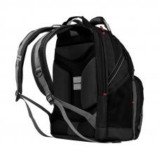Рюкзак WENGER 16, черный/серый, полиэстер/ПВХ, 36 x 26 x 46 см, 26 л 600635