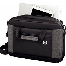Портфель для ноутбука 16 WENGER, черный/серый, полиэстер, 43 x 9 x 31 см, 9 л 601057