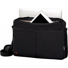 Портфель для ноутбука 14 WENGER, черный, нейлон / ПВХ, 39 x 8 x 26 см, 5 л 601079