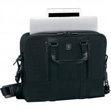 Портфель VICTORINOX Lexicon Professional LaSalle 15.6'', чёрный, нейлон/кожа, 40x10x29 см, 11 л