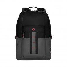 Рюкзак WENGER 16, черный/серый, полиэстер, 34 x 25 x 45 см, 20 л 601901