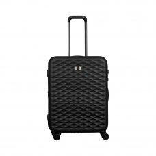 Чемодан WENGER Lumen, черный, поликарбонат, 47 x 26 x 64 см, 61 л 604339