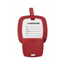 Бирка для багажа WENGER, красная, полиуретан, 4.1 x 4.1 x 0.4 см 604541