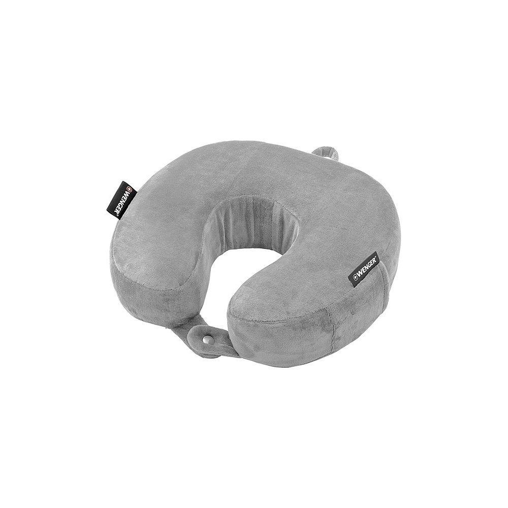 Подушка для путешествий WENGER с эффектом памяти, полиэстер/флис, серая, 27 x 8 x 26 см 604575