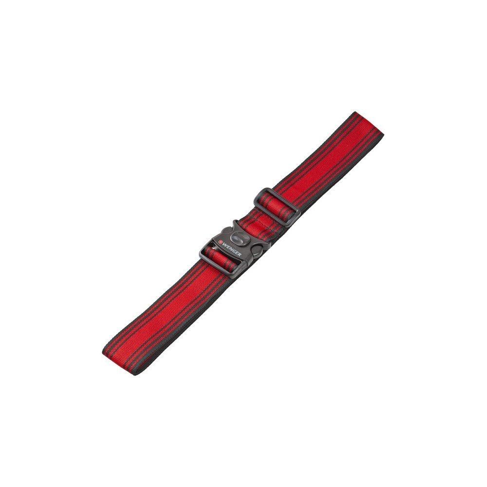 Ремень багажный WENGER, черный/красный, полиэстер, 101.5 x 1.4 x 5 см 604597