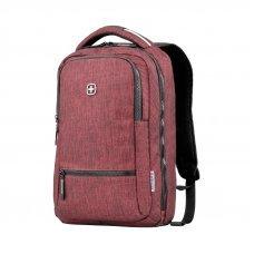 Рюкзак WENGER 14, бордовый, полиэстер, 26 x 19 x 41 см, 14 л 605024