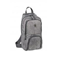 Рюкзак WENGER с одним плечевым ремнем, темно-cерый, полиэстер, 19 х 12 х 33 см, 8 л 605029