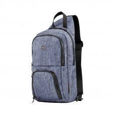 Рюкзак WENGER с одним плечевым ремнем, синий, полиэстер, 19 х 12 х 33 см, 8 л 605031