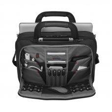 Портфель WENGER для ноутбука 14-16, черный, баллистический нейлон, 40 x 16 x 29 см, 11 л 606464