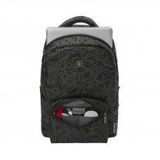 Рюкзак WENGER 16, черный с рисунком, полиэстер, 36 x 25 x 45 см, 22 л 606466