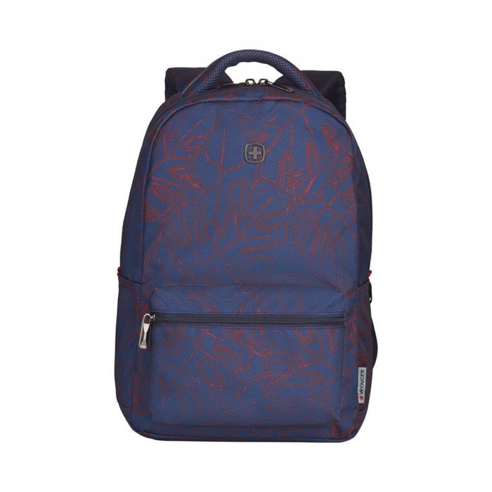 Рюкзак WENGER 16, синий с рисунком, полиэстер, 36 x 25 x 45 см, 22 л 606467