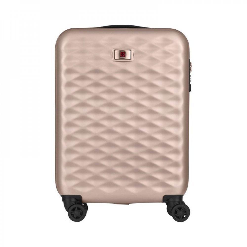 Чемодан WENGER Lumen, розовое золото, поликарбонат, 40 x 20 x 55 см, 32 л 606496