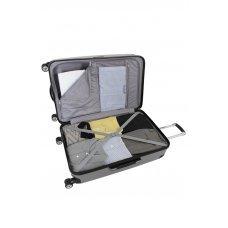 Чемодан WENGER Ridge, цвет серебристый , АБС-пластик, 47х30.5х75 см , 92л 6171014171