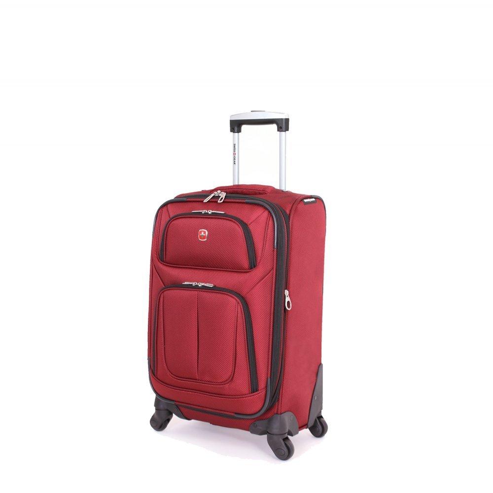 Чемодан SWISSGEAR SION, бордовый, полиэстер 750x750D добби, 32x15x51 см, 24 л 6283131156
