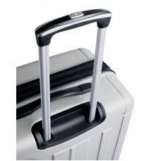 Чемодан SWISSGEAR USTER, серебристый, АБС-пластик, 47x29x77 см, 94 л 6297404177