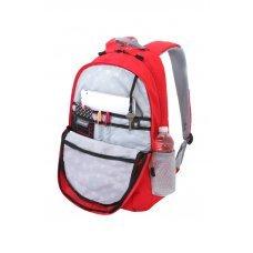Рюкзак WENGER, красный/серый, полиэстер 600D/хонейкомб, 33x16.5x46 см, 26л 6651114408