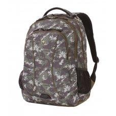 """Рюкзак WENGER,15"""",  зеленый камуфляж, полиэстер, 900D, 33х17х46 см, 32 л 6659600408"""