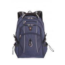 """Рюкзак WENGER,15"""", синий/серебристый, полиэстер 900D/М2 добби, 34x23x48 см, 38 л 6677303408"""