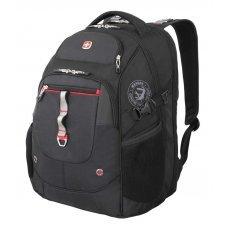 """Рюкзак WENGER,15"""", чёрный/красный, полиэстер 900D/М2 добби/искуственная кожа, 34x22x46 см, 34 л 6968201408"""
