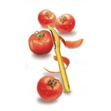 Нож для чистки овощей VICTORINOX универсальный, двустороннее зубчатое лезвие, жёлтая рукоять 7.6075.8