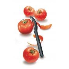 Нож для чистки овощей VICTORINOX универсальный, двустороннее зубчатое лезвие, чёрная рукоять 7.6075