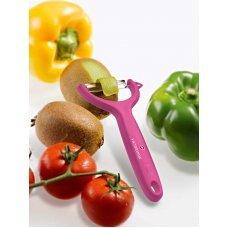 Нож для чистки томатов и киви VICTORINOX, двусторонее зубчатое лезвие, розовая рукоять 7.6079.5
