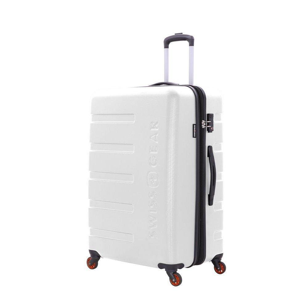 Чемодан SWISSGEAR TYLER, белый, АБС-пластик, 51.5 x 31 x 77 см, 96 л 7366100177