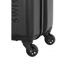 Чемодан SWISSGEAR TYLER, черный, АБС-пластик, 51.5 x 31 x 77 см, 96 л 7366202177