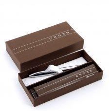 Шариковая ручка Cross ATX. Цвет - серебристый. 882-2