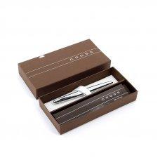 Перьевая ручка Cross ATX. Цвет - серебристый. Перо - сталь, тонкое. 886-2FS