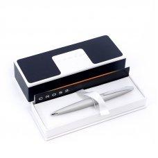 Перьевая ручка Cross ATX. Цвет - глянцевый черный/серебро. Перо - сталь, тонкое 886-36FS