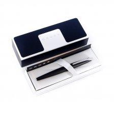 Перьевая ручка Cross ATX. Цвет - матовый черный/серебро. Перо - сталь, среднее 886-3MS