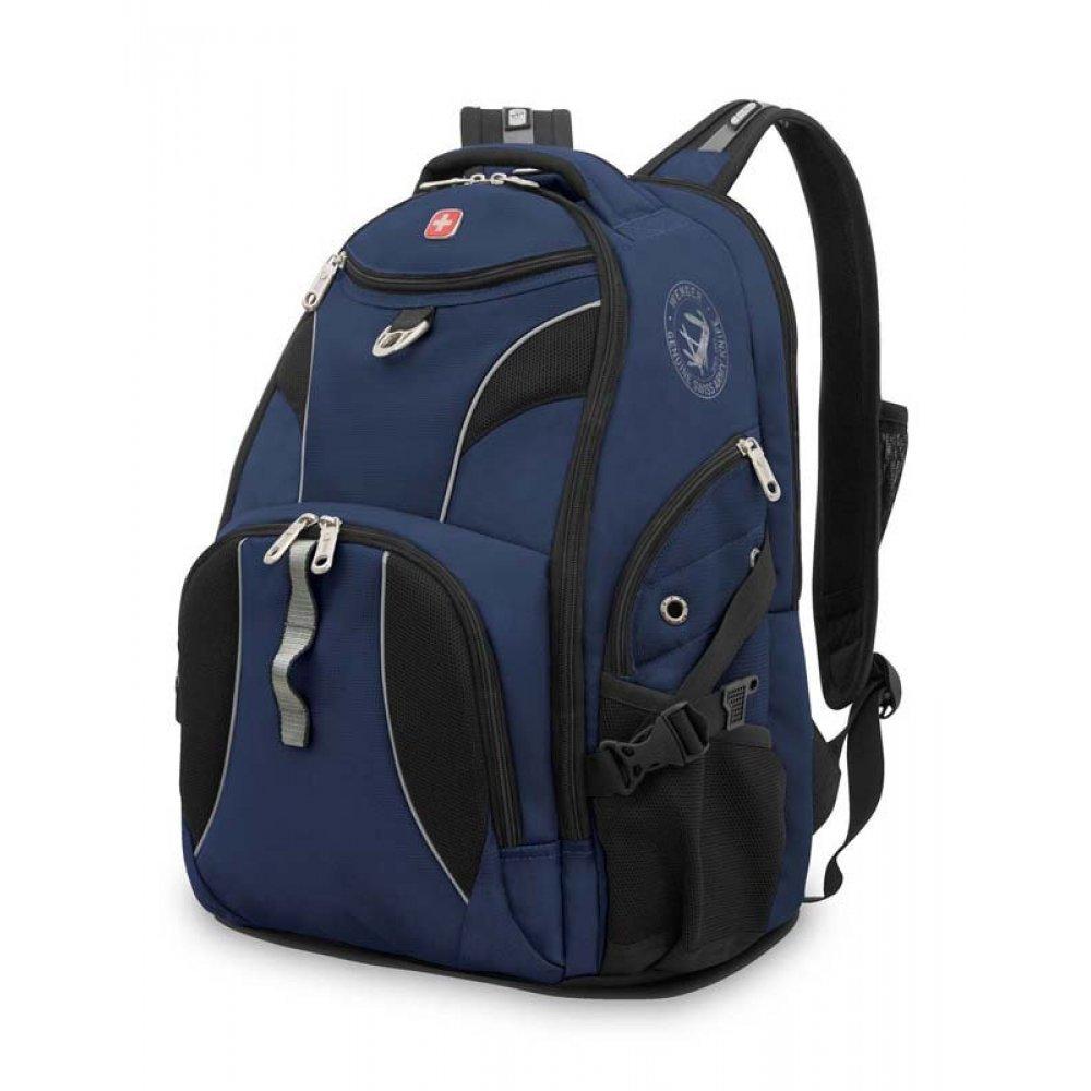 "Рюкзак WENGER, 15"",синий/черный, полиэстер 900D/М2 добби, 34x17x47 см, 26 л 98673215"