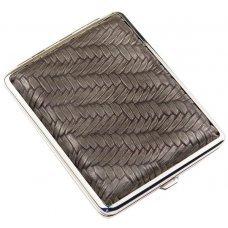 Портсигар S.Quire, сталь+искусственная кожа, бронзово-серый цвет с рисунком, 74*95*18 мм AB02-GBRZ
