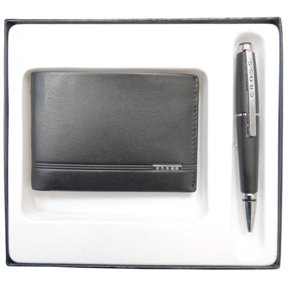 Набор подарочный Cross, 2 пр. Состав набора: портмоне и ручка. AC018068-1NAB