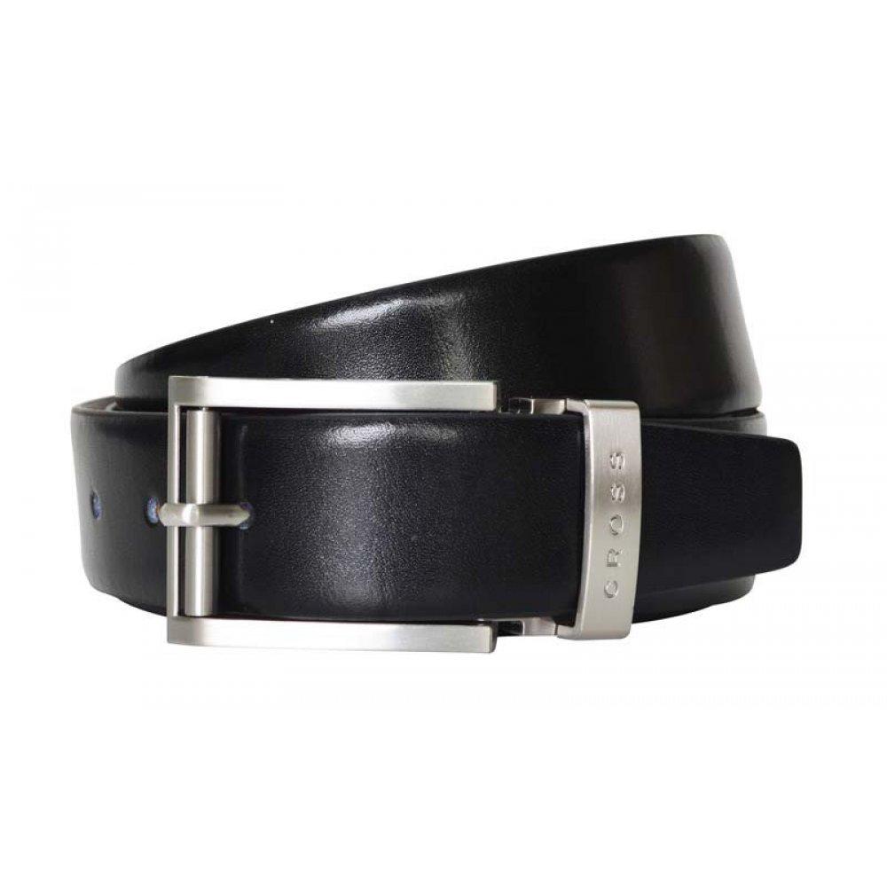 Ремень Cross Classic Century двухсторонний, кожа наппа гладкая, цвет чёрный/коричневый, 117 х 3.5 см AC018193-XL