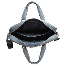 Портфель, Cross Nueva FV, кожа наппа, фактурная, серый, 40 х 17 х 29 см AC021115-3