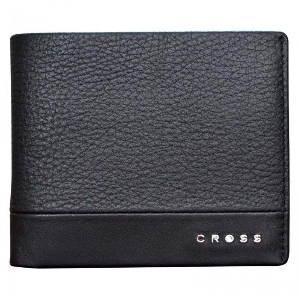 Кошелёк, Cross Nueva FV, кожа наппа, фактурная, чёрный, 11.5 х 1.5 х 9.5 см AC028364-1