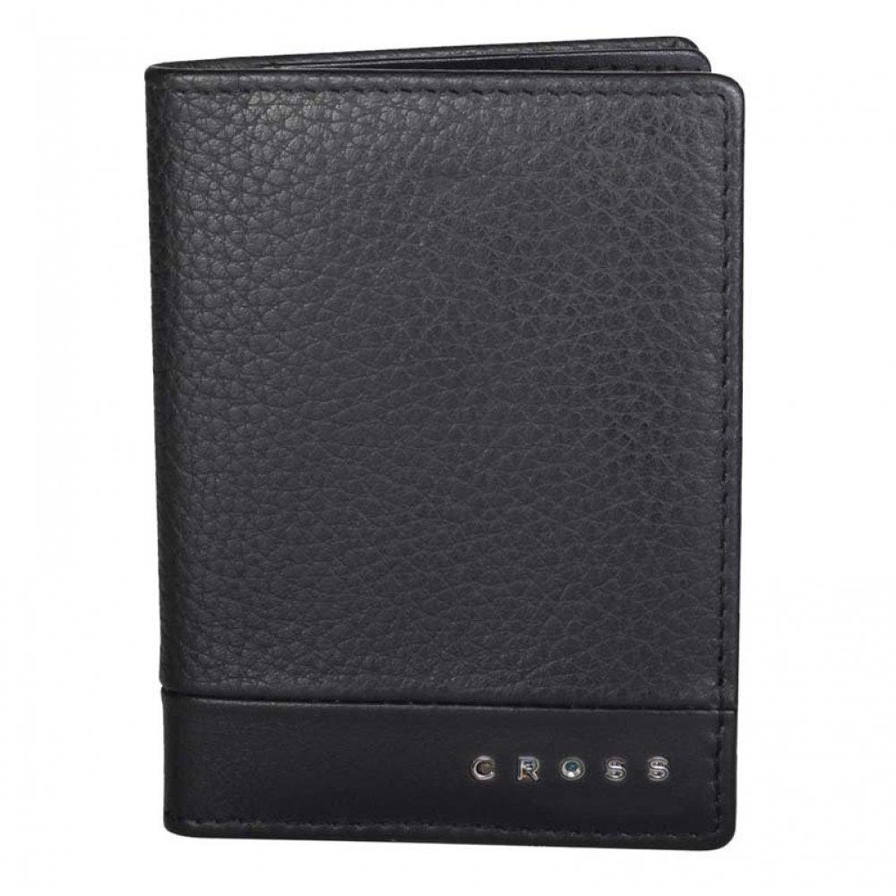 Обложка для кредитных карт, Cross Nueva FV, кожа наппа, фактурная, чёрный, 11 х 1 х 9 см AC028387-1