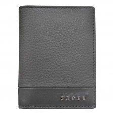 Обложка для кредитных карт, Cross Nueva FV, кожа наппа, фактурная, серый, 11 х 1 х 9 см AC028387-3