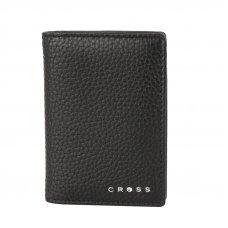 Визитница Cross Hudson Black, кожа наппа, фактурная, чёрный, 10.5 х 7.5 х 2 см AC1288387_1-1