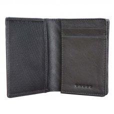 Обложка для кредитных карт Cross Grabado, кожа наппа, фактурная, чёрный, 7.5 х 1 х 10.5 см
