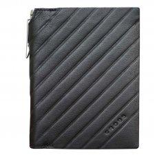 Обложка для документов Cross Grabado с ручкой Cross, кожа наппа, фактурная, чёрный, 11 х 1 х 14 см AC178389-1
