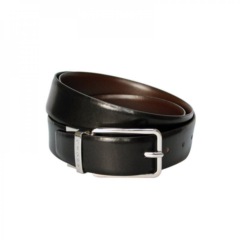 Ремень Cross Santiago, двухсторонний, кожа наппа гладкая, цвет чёрный/коричневый, 126 х 3.5 см AC318494