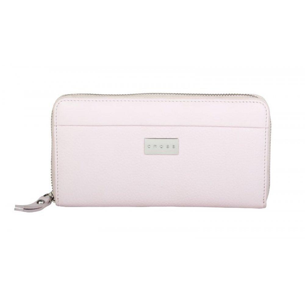 Кошелёк Cross Spanish Summer. Кожа наппа, фактурная, цвет нежно-розовый, 19 х 10 х 1.9 см AC528092-2