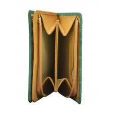 Кошелёк Cross Bebe Coco, кожа наппа фактурная, цвет зелёный/рыжий, 11.2 х 9.4 х 2 см AC578083-4